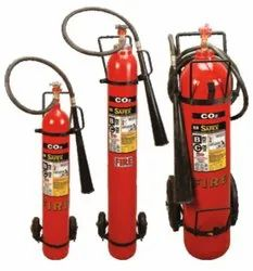 Safex Trolley Mounted Type C02 Fire Extinguishers- 6.5kg