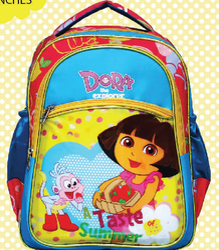 Printed Polyester Kids Bag, For School