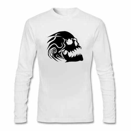 Cotton Skull Tattoo Printed Designer T Shirt