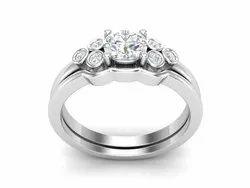 925 Sterling Silver Cubic Bridal Wedding Ring