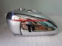 New Bsa M2021 Dlx M22 M2324 Chrome And Silver Painted Fuel Petrol Tank 1938-40