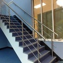 Silver And Ss Staircase Railing