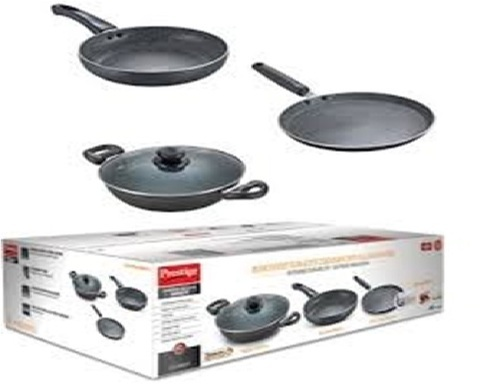 Prestige Granite BYK03 Pcs Cookware Set
