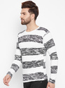 Men''s Full Sleeves Round Neck Striped T-Shirt