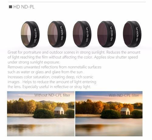 5a816eaf07e PGYTECH Original MAVIC AIR Lens Filters 4pcs/set G-HD-MRC( (ND4 ND8 ...