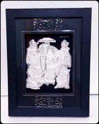 Silver Sita Ram Hanuman Frame