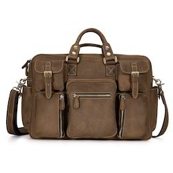 Female Brown Hunter Leather Back Pack