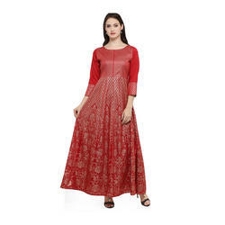 Red Designer Kurta