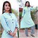 Ladies Cotton Kurti Palazzo Set