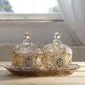 Crystal Glass Dryfruit Platter