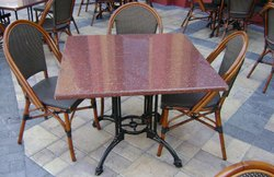 Granite Top Restaurant Table & Chair