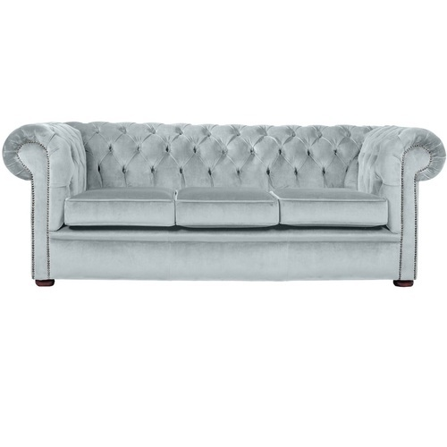 Grey Fabric Velvet Chesterfield Sofa Rs 19000 Piece Rustic Green