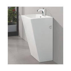 White Plain One Piece Pedestal Wash Basin