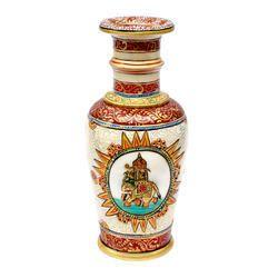 Marble Vase with Elephant