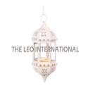 White Color Hanging Moroccan Lantern