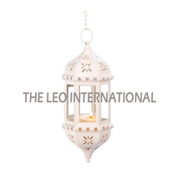 White Color Hanging Moroccan Lantern