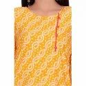 Yellow And Red Crepe Kurti