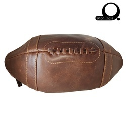 Mon Exports Brown Men's Toiletry Leather Bag, Yes