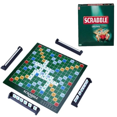 Mini Scrabble Board Game for Kids and Adults
