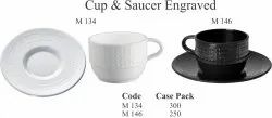 Cup & Saucer Engraved