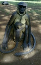 FRP Monkey Statue