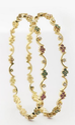 Tiny Floral Wave Diamond Bangles