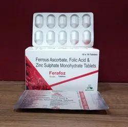 Ferrous Ascorbate ,Foilc Acid And Zinc Sulphate Monohydrates Tablets