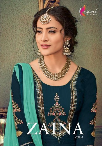 Kesari Trendz Zaina Vol Brasso Exclusive Salwar Kameez