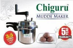 Chiguru Aluminium Mudde Maker (Silver, 3.5 L)