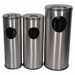 Ash Can Stainless Steel Dustbin