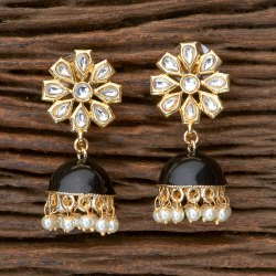 Classic Indo Western Jhumkis with Gold Plating 100783