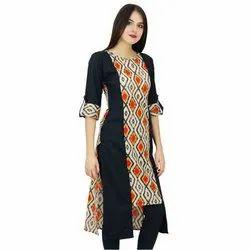 XL Printed Ladies Fashionable Kurti