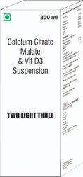 Calcium Citrate Malate & Vit D3 Suspension