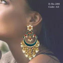 Traditional Pearl Chandbali Earrings