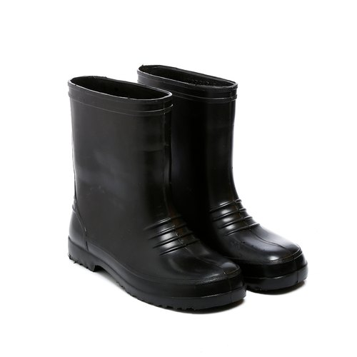 Men Black Mangla High Ankle Boots, Size