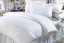 White Bed Sheet with Pillow Case