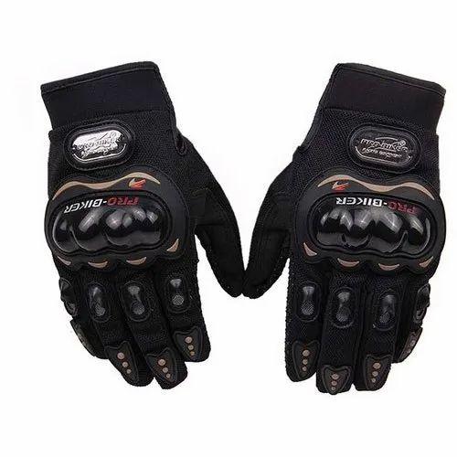 Black Probiker Motorcycle Gloves