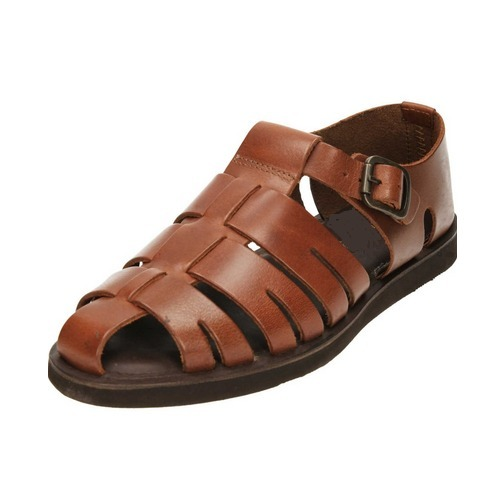 9e783c24eb3d6 Men  s Brown Leather Sandal