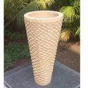 Outdoor Beige Marble Handicraft Pot, 10-25 Mm, Size: 5