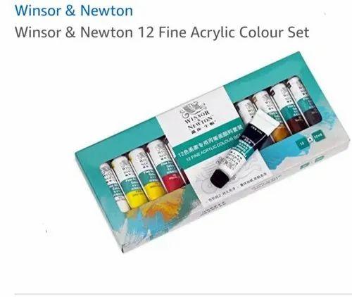 Winsor and Newton 12 Fine Acrylic Colour