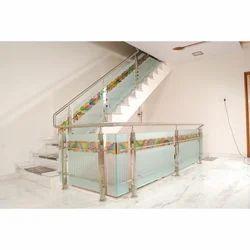 Stainless Steel & Glass Indoor Stair Railings