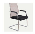 Genuine Leather And Metal Black Visitor Chairs-ifc050