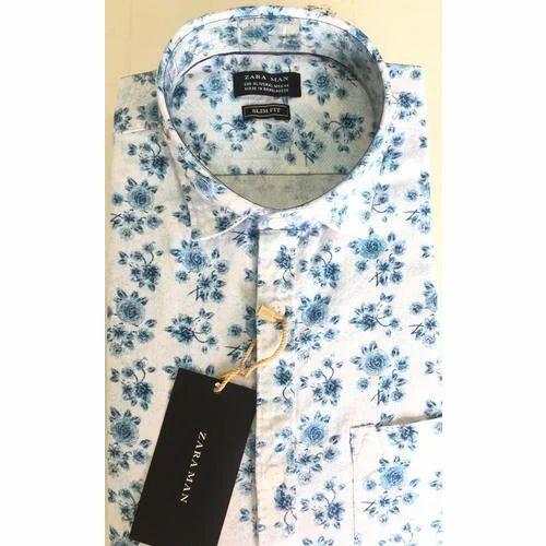 40a392e9 Zara Man Cotton Mens Flower Print Shirt, Rs 310 /piece, Meghana ...