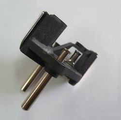 Two Pin Plug Insert 4mm Pins With Double Earth Conductor