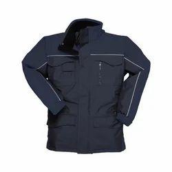 Mens Full Sleeves Waterproof Jacket, Size: Large