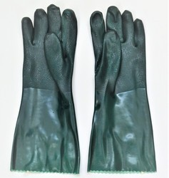 PVC Suppoted Hand Gloves 16 Inch
