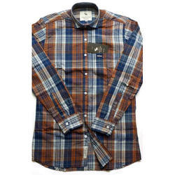Semi-formal Cotton Check Casual Shirt, Size: Small