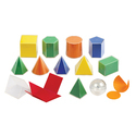 3D Solids Set 5CM, Transparent 17 PCS