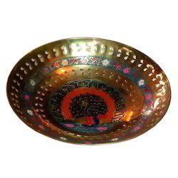 Brass Golden Round Jali Bowl