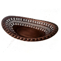 Smokey Copper Oblong Perforated Bread Basket